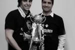 André Oliveira e Pedro Emanuel com a Taça de Portugal conquistada pela Académica