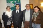 O deputado Paulo Almeida com António Fontes, Paula Ribeiro e Vera Martins do CERCAV