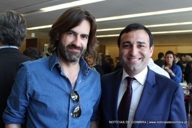 Miguel Júdice, CEO do grupo Quinta das Lágrimas e Gilberto Rodrigues, director do hotel de Coimbra