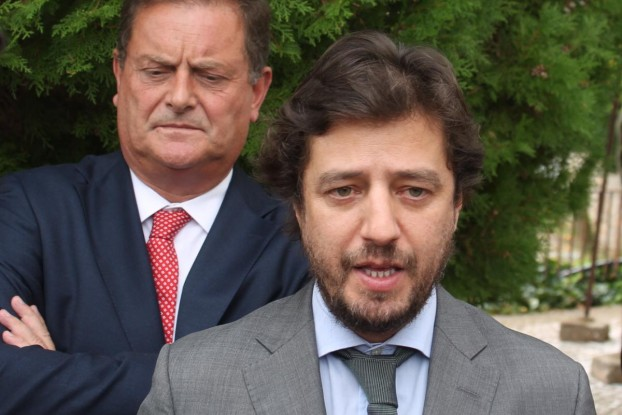 Poiares Maduro, Minitro Adjunto e do Densolvimento Regional e João Ataíde, Presidene da Comunidade Intermunicipal da Região de Coimbra