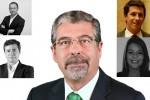 Machado (ao centro) com (da esuerda para a direita) Viana, Diogo, Duarte e Cunha.