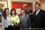 Paulo Santos com a esposa e filha recebem Agostinho Branquinho