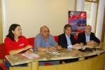 Fotografia: Conferência de imprensa de apresentação do evento com Rute Costa (diretora do Tour), Joaquim de Sousa (Ginásio Clube Figueirense), Pedro Machado (Turismo Centro de Portugal) e António Granjeia (Clube dos Galitos).