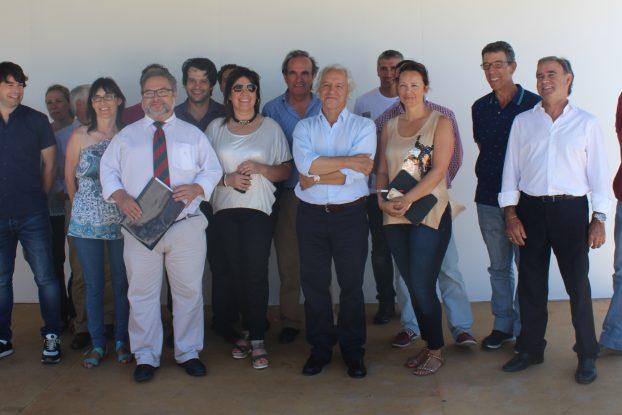 Uma parte da grande equipa que ergue a EXPOFACIC durante a presentação doc ertame à comunicação social