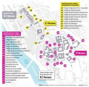 Áreas da Alta e Rua da Sofia classificadas como Património da Humanidade