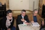 Isabel Campante, Ferreira da Silva e Abílio Hernandez, no Cafá Santa Cruz