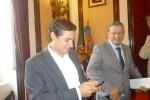 José Diogo na posse de Manuel Machado como preidente da CMC, que paga quatro mil euros por mês a empresa do assessor que não aparecido nos Paços do Concelho