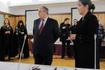João de Sousa Franco com a Presidente da ESEnfC, Maria da Conceição Bento, que lhe conferiu posse