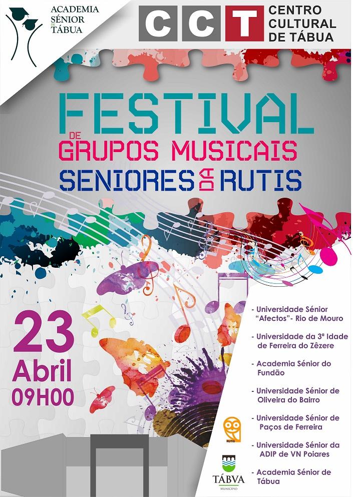 Cartaz Festival de Grupos Musicais Seniores da Rutis