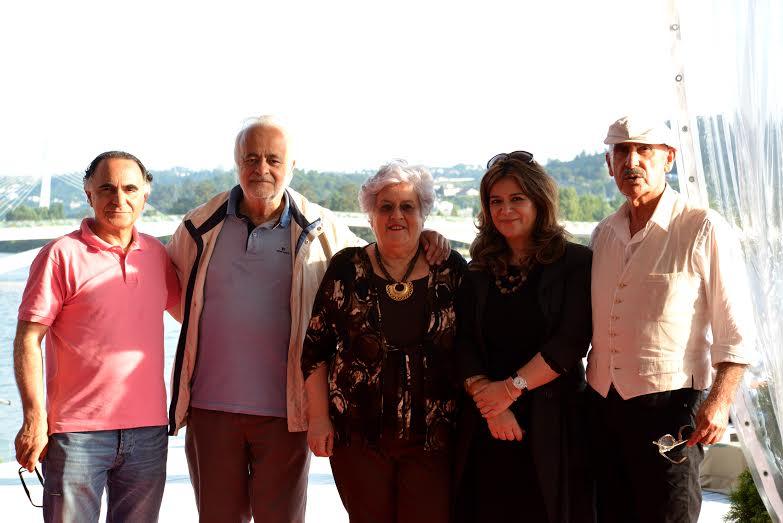 Com Francisco Paz (CMC),Fernando Martins e Maria Rosário Gama ( APRe) e Emília Martins (OCC)   Vitorino