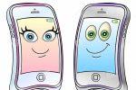 telefones-celulares-dos-desenhos-animados-35421474