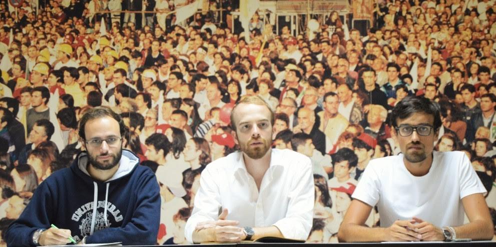 Luís Silva, Tiago Estêvão Martins, Ricardo Vicente(da esquerda para a direita)