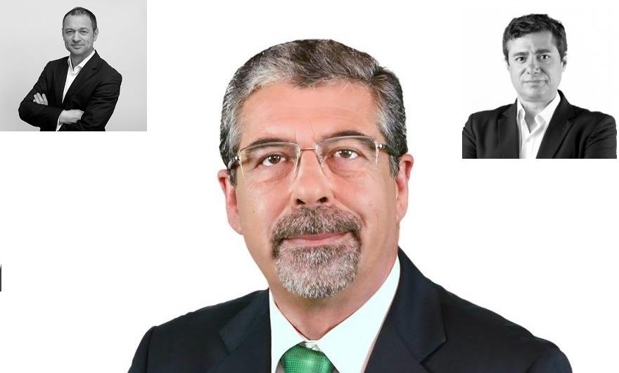 Manuel Machado ( centro), Miguel Viana (esquerda) José Diogo (direita)