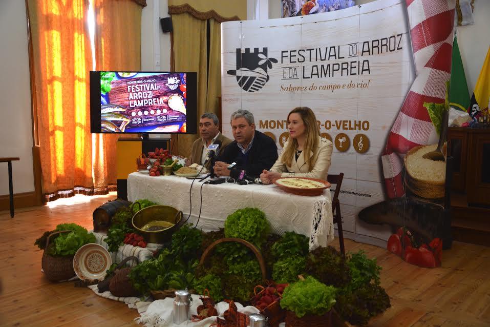 José Veríssimo, Emílio Torrão e Diana Andrade na apresentação da festa