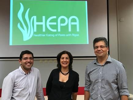 Da esquerda para a direita: Rui Pereira (Algaplus), Susana Cardoso (Universidade de Aveiro), Rui Costa (Politécnico de Coimbra)