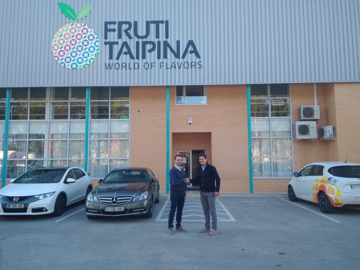 Na fotografia: Luis Filipe Taipina (Fruti-Taipina) e Paulino Oliveira (Sunenergy).